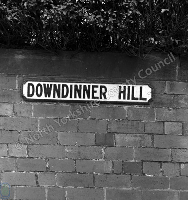 Downdinner Hill, Sign, Whitby